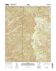 Wirth Arkansas Current topographic map, 1:24000 scale, 7.5 X 7.5 Minute, Year 2014