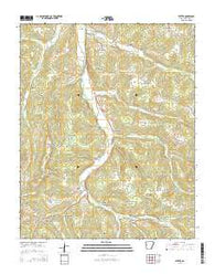 Witter Arkansas Current topographic map, 1:24000 scale, 7.5 X 7.5 Minute, Year 2014