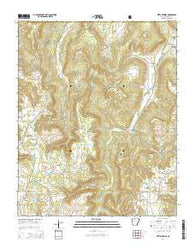 Witts Springs Arkansas Current topographic map, 1:24000 scale, 7.5 X 7.5 Minute, Year 2014