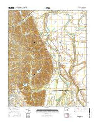 Wittsburg Arkansas Current topographic map, 1:24000 scale, 7.5 X 7.5 Minute, Year 2014