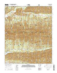Y City Arkansas Current topographic map, 1:24000 scale, 7.5 X 7.5 Minute, Year 2014