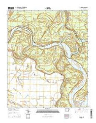 Yancopin Arkansas Current topographic map, 1:24000 scale, 7.5 X 7.5 Minute, Year 2014