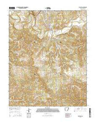 Yellville Arkansas Current topographic map, 1:24000 scale, 7.5 X 7.5 Minute, Year 2014