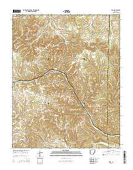 Zinc Arkansas Current topographic map, 1:24000 scale, 7.5 X 7.5 Minute, Year 2014