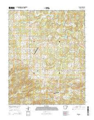 Zion Arkansas Current topographic map, 1:24000 scale, 7.5 X 7.5 Minute, Year 2014