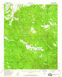 Alpine Arizona Historical topographic map, 1:62500 scale, 15 X 15 Minute, Year 1958