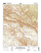 Ash Creek NE Arizona Current topographic map, 1:24000 scale, 7.5 X 7.5 Minute, Year 2014 from Arizona Map Store
