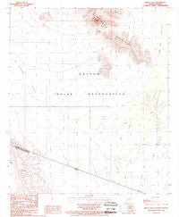 Bailey Peak Arizona Historical topographic map, 1:24000 scale, 7.5 X 7.5 Minute, Year 1988