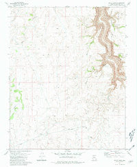 Baldy Basin Arizona Historical topographic map, 1:24000 scale, 7.5 X 7.5 Minute, Year 1981