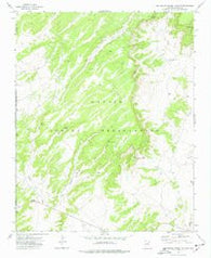 Big Willow Spring Canyon Arizona Historical topographic map, 1:24000 scale, 7.5 X 7.5 Minute, Year 1972