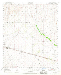 Bowie Arizona Historical topographic map, 1:62500 scale, 15 X 15 Minute, Year 1949