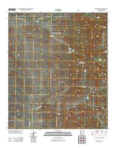 Bruno Peak Arizona Historical topographic map, 1:24000 scale, 7.5 X 7.5 Minute, Year 2012