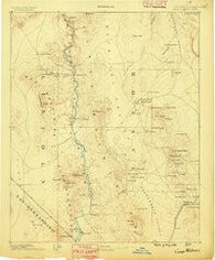 Camp Mohave Arizona Historical topographic map, 1:250000 scale, 1 X 1 Degree, Year 1886