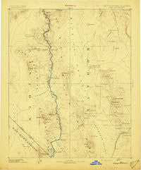 Camp Mohave Arizona Historical topographic map, 1:250000 scale, 1 X 1 Degree, Year 1892