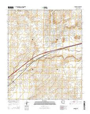 Chambers Arizona Current topographic map, 1:24000 scale, 7.5 X 7.5 Minute, Year 2014 from Arizona Maps Store