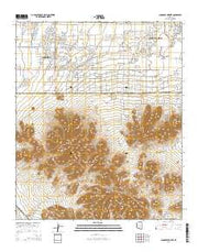 Chandler Heights Arizona Current topographic map, 1:24000 scale, 7.5 X 7.5 Minute, Year 2014 from Arizona Maps Store