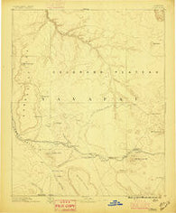 Chino Arizona Historical topographic map, 1:250000 scale, 1 X 1 Degree, Year 1886