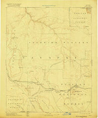 Chino Arizona Historical topographic map, 1:250000 scale, 1 X 1 Degree, Year 1891