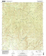 Chiricahua Peak Arizona Historical topographic map, 1:24000 scale, 7.5 X 7.5 Minute, Year 1997