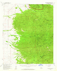 Chiricahua Peak Arizona Historical topographic map, 1:62500 scale, 15 X 15 Minute, Year 1958