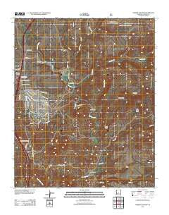 Cordes Junction Arizona Historical topographic map, 1:24000 scale, 7.5 X 7.5 Minute, Year 2012