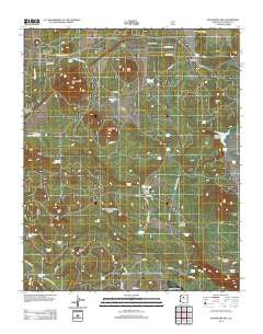 Davenport Hill Arizona Historical topographic map, 1:24000 scale, 7.5 X 7.5 Minute, Year 2012