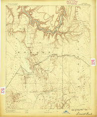 Diamond Creek Arizona Historical topographic map, 1:250000 scale, 1 X 1 Degree, Year 1886
