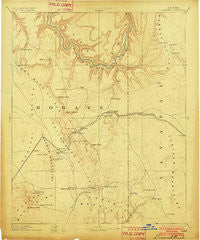 Diamond Creek Arizona Historical topographic map, 1:250000 scale, 1 X 1 Degree, Year 1892