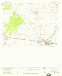 Douglas Arizona Historical topographic map, 1:62500 scale, 15 X 15 Minute, Year 1958