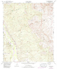 Dudleyville Arizona Historical topographic map, 1:24000 scale, 7.5 X 7.5 Minute, Year 1949