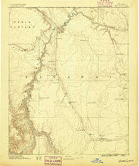 Echo Cliffs Arizona Historical topographic map, 1:250000 scale, 1 X 1 Degree, Year 1886
