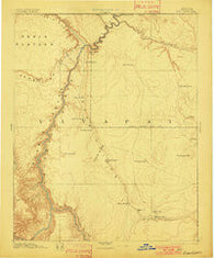 Echo Cliffs Arizona Historical topographic map, 1:250000 scale, 1 X 1 Degree, Year 1891