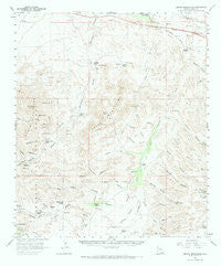 Empire Mountains Arizona Historical topographic map, 1:62500 scale, 15 X 15 Minute, Year 1958