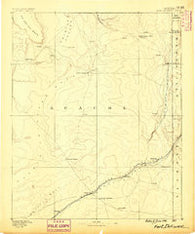 Fort Defiance New Mexico Historical topographic map, 1:250000 scale, 1 X 1 Degree, Year 1886