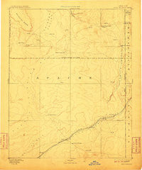 Fort Defiance New Mexico Historical topographic map, 1:250000 scale, 1 X 1 Degree, Year 1892