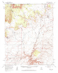 Fredonia Arizona Historical topographic map, 1:62500 scale, 15 X 15 Minute, Year 1954