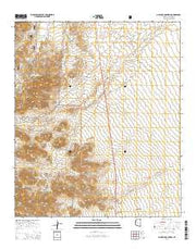 Gillespie Mountain Arizona Current topographic map, 1:24000 scale, 7.5 X 7.5 Minute, Year 2014 from Arizona Maps Store