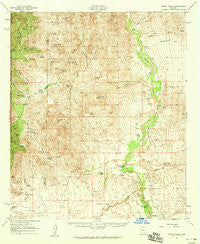 Happy Valley Arizona Historical topographic map, 1:62500 scale, 15 X 15 Minute, Year 1958