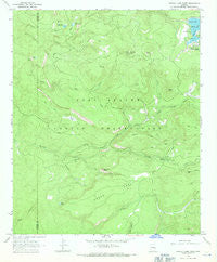 Hawley Lake West Arizona Historical topographic map, 1:24000 scale, 7.5 X 7.5 Minute, Year 1966