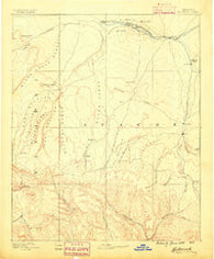 Holbrook Arizona Historical topographic map, 1:250000 scale, 1 X 1 Degree, Year 1886