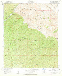 Holy Joe Peak Arizona Historical topographic map, 1:24000 scale, 7.5 X 7.5 Minute, Year 1949