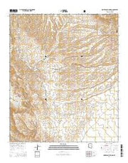 Hookers Hot Springs Arizona Current topographic map, 1:24000 scale, 7.5 X 7.5 Minute, Year 2014 from Arizona Maps Store