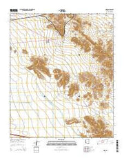 Hope Arizona Current topographic map, 1:24000 scale, 7.5 X 7.5 Minute, Year 2014 from Arizona Maps Store