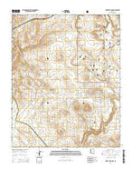 Horse Trap Mesa Arizona Current topographic map, 1:24000 scale, 7.5 X 7.5 Minute, Year 2014 from Arizona Map Store