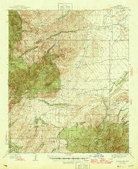 Jackson Mtn. Arizona Historical topographic map, 1:62500 scale, 15 X 15 Minute, Year 1946