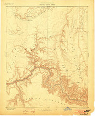 Kaibab Arizona Historical topographic map, 1:250000 scale, 1 X 1 Degree, Year 1886