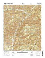 Maness Peak Arizona Current topographic map, 1:24000 scale, 7.5 X 7.5 Minute, Year 2014 from Arizona Map Store