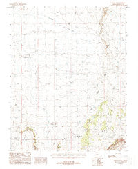 Maroney Well Arizona Historical topographic map, 1:24000 scale, 7.5 X 7.5 Minute, Year 1988