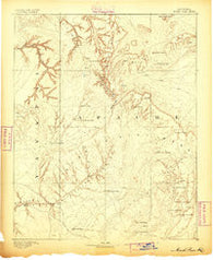 Marsh Pass Arizona Historical topographic map, 1:250000 scale, 1 X 1 Degree, Year 1883