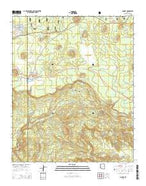 McNary Arizona Current topographic map, 1:24000 scale, 7.5 X 7.5 Minute, Year 2014 from Arizona Map Store